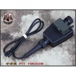 EMERSON CONECTOR TEA PTT ICOM 2 PIN