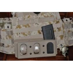 PORTA CARGADOR M4 G TMC KG Inner Pouch For 6094 Vest ( Khaki )