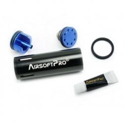 airsoftpro set cilindro gear box cañones cortos