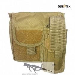OSLOTEX Portamapa con Portacargador Coyote