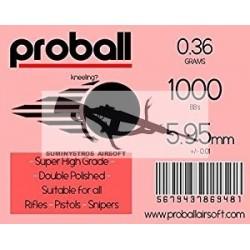 BOLAS SNIPER Proball 0.36grs BLANCA