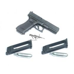 KJW Glock 17 METAL 2 CARGADORES CO2