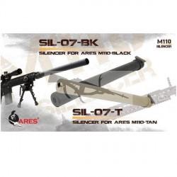 Silenciador SR25 ARES M110 370mm SIL-07-BK
