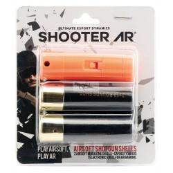 SHOOTER AR CARTUCHO bluetooth Y 2 cartuchos de escopeta airsoft